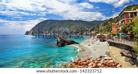 scenic Italy series- Monterosso al Mare, Cinque terre - stock photo