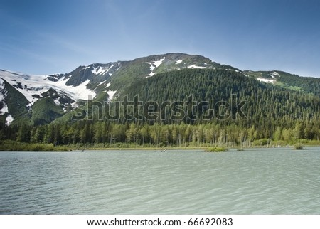 Scenic Kenai Peninsula in Alaska - stock photo