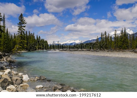 Scenic Kootenay National Park. British Columbia in springtime