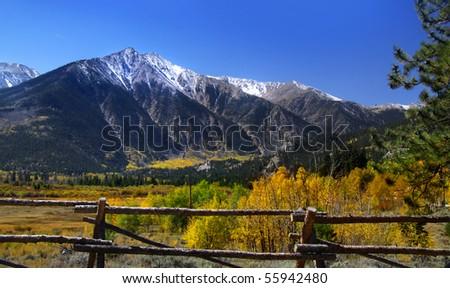 Scenic landscape in Colorado - stock photo
