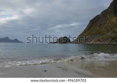 Scenic landscape of Lofoten islands