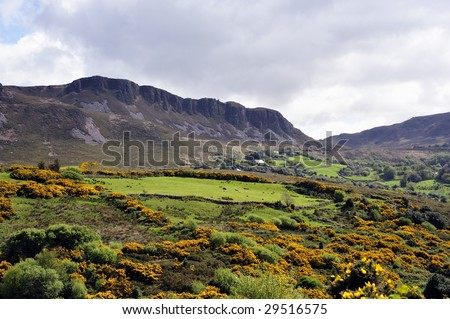 scenic landscape on Ring Of Kerry,Republic Of Ireland