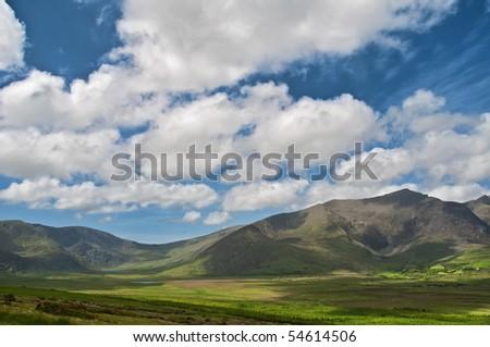 scenic landscape photo from the west coast of ireland - stock photo