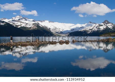 Scenic landscape view at Garibaldi Provincial Park in British Columbia - stock photo