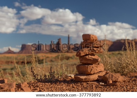 Scenic Monument Valley - stock photo