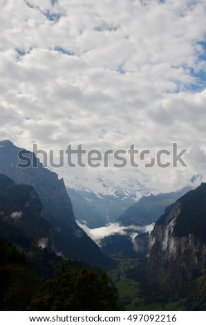 scenic mountain landscape in Switzerland