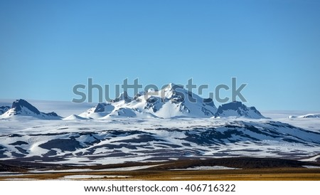 Scenic mountain landscape shot - stock photo