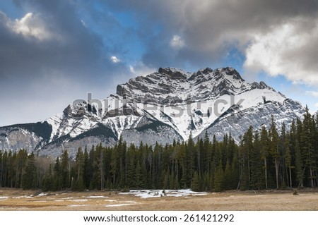 Scenic mountain views, Banff National Park Alberta Canada - stock photo