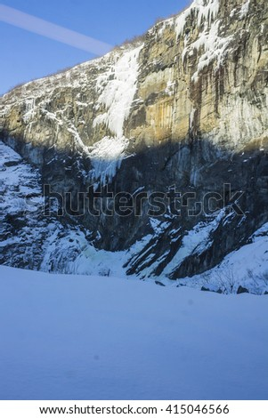 Scenic Mountain views in Winter