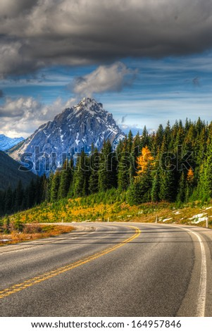 Scenic Mountain Views Kananaskis Country Alberta Canada - stock photo