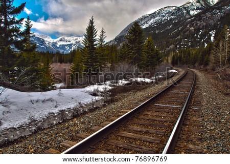 Scenic mountain views of Banff National Park Alberta Canada - stock photo