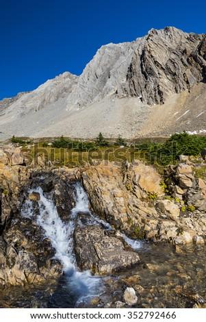 Scenic mountain views of Kananaskis Country Alberta Canada in summer - stock photo