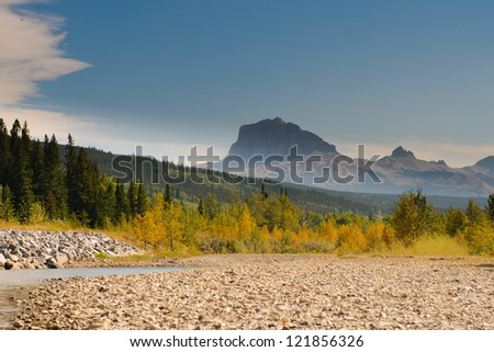 Scenic Mountain Views, Waterton National Park Alberta Canada - stock photo