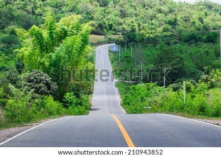 Scenic road  - stock photo