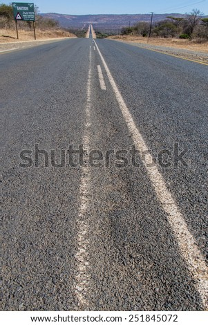 Scenic road across South Africa  - stock photo