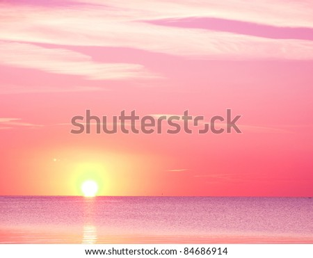 Scenic Sea Sunrise - stock photo