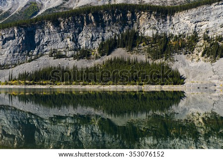 Scenic Spray Lakes in the summer, Kananaskis Country Alberta Canada - stock photo