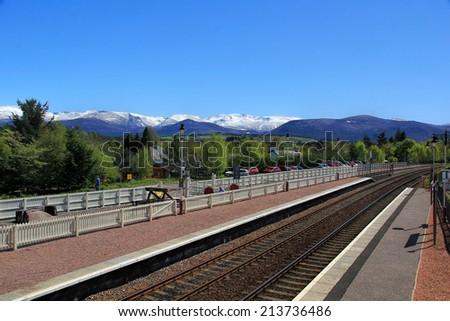 Scenic Train station - stock photo