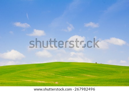 Scenic Tuscany landscape in Val d'Orcia, Italy - stock photo