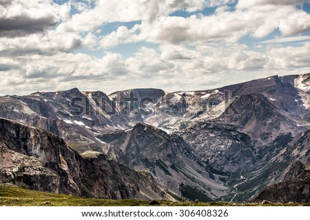 Scenic view along the Beartooth Highway in Montana. - stock photo