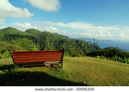 Scenic view from the mountains - stock photo
