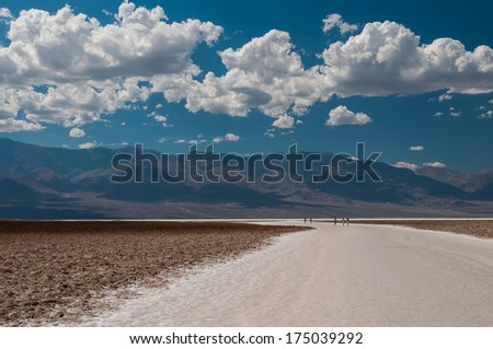 Scenic view of Badwater in Death Valley. - stock photo