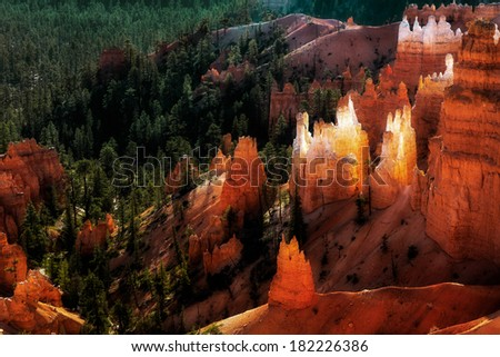 Scenic view of Bryce Canyon - stock photo