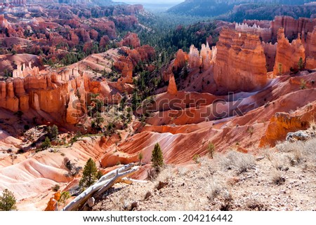 Scenic view of Bryce Canyon Southern Utah USA - stock photo