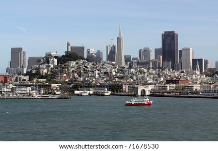 Scenic view of San Francisco, California - stock photo
