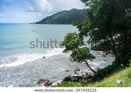 Scenic view of sea, Trinidad, Trinidad and Tobago - stock photo