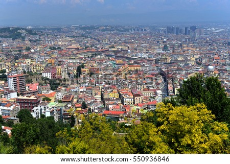 Scenic view of the city of Napoli (Naples), Campania, Italy