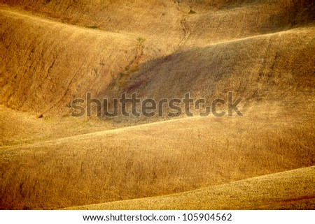 Scenic view of Tuscany landscape, Italy .  Nature background - stock photo
