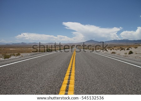 scenic view of US Route 50 a.k.a. The Loneliest Road in America