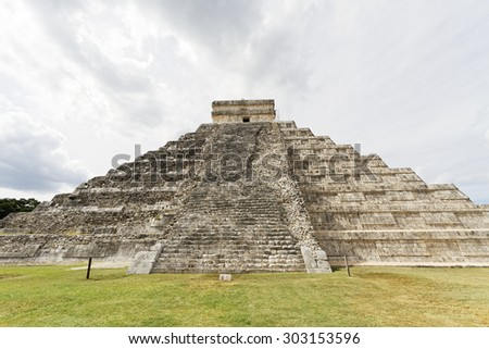 Scenic views of Chichen Itza Maya ruins on Yukatan Peninsula, Mexico. - stock photo
