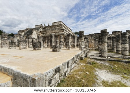 Scenic views of Chichen Itza Maya ruins on Yukatan Peninsula, Mexico. - stock photo