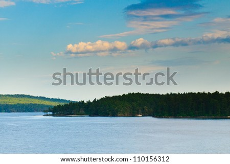 Scenic Views of the Pacific Ocean Vancouver Island BC Canada - stock photo