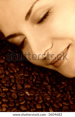 Scent of a coffee - stock photo