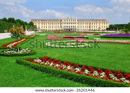 Schönnbrunn Palace, Vienna, Austria - stock photo