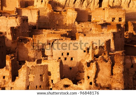 Schali ( Shali ) the old Town of Siwa on sunrise - stock photo