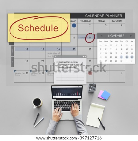 Schedule Calender Planner Organization Remind Concept - stock photo
