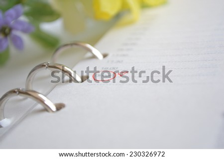 schedule love appointment with the special person - stock photo