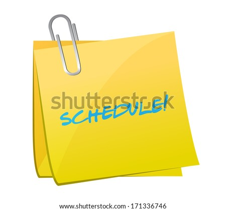 schedule post illustration design over a white background - stock photo