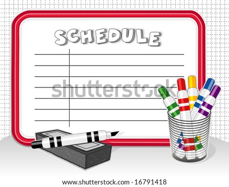 Schedule Whiteboard Create Your List On Stock Illustration 16791418 ...