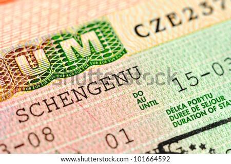 Schengen Visa to Czech Republic - stock photo