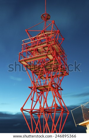 Scheveningen tower. Scheveningen,  The Hague, Netherlands. - stock photo