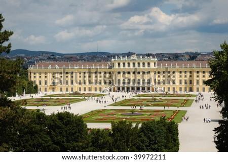 Schoenbrunn palace and gardens - stock photo