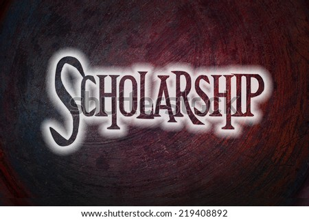 Scholarship Concept text on background - stock photo