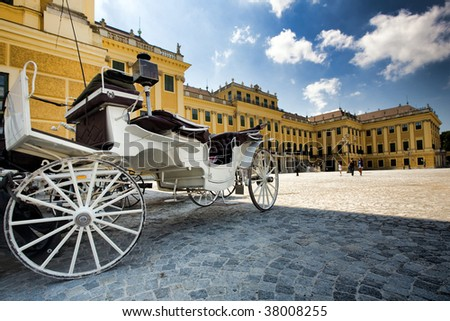 SCHONBRUNN PALACE, GROUND VIEW  - stock photo