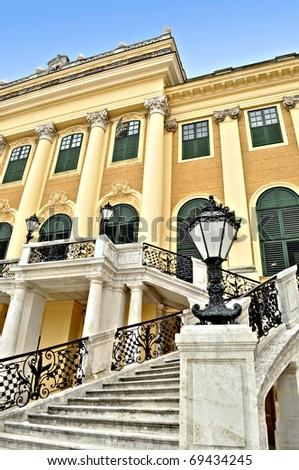 Schonbrunn Palace stairs, Vienna, Austria - stock photo