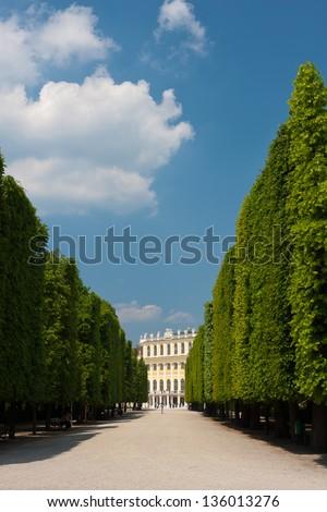 Schonbrunn park, Vienna, Austria. - stock photo